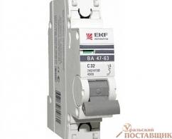 Автоматический выключатель ЭКФ ВА 47-63 1Р 32А ЭКФ