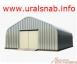 Бескаркасный разборный быстровозводимый ангар с прямыми стенами тип Домик